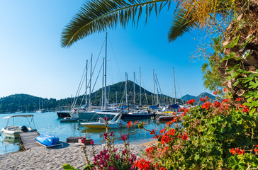 Wall Mural - View of  Nidri harbour and village, Lefkada, Greece