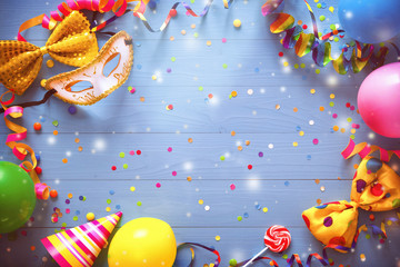 Colorful carnival or birthday background