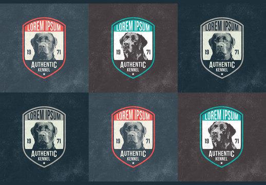 Dog Badge Layouts