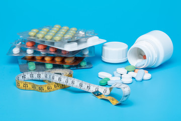 Tape measure and Pills