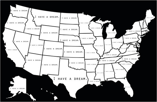 I have a dream note written on each USA state