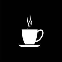 Coffee cup icon, Coffee cup logo, Coffee time, Coffee cup on dark background