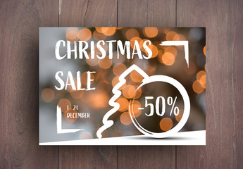 Holiday Sale Card Layout