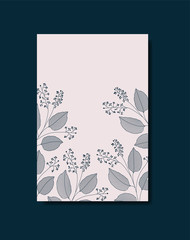 card with elegant floral decoration
