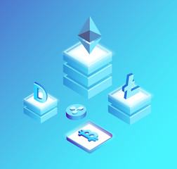 Bitcoin Litecoin, Ethereum Ripple and Dogecoin