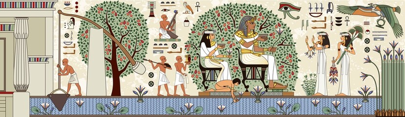 Egyptian hieroglyph and symbolAncient culture sing and symbol.Pharaoh.Historical background.