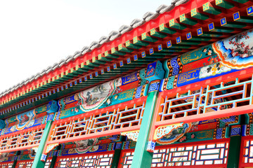 Color decoration on the promenade