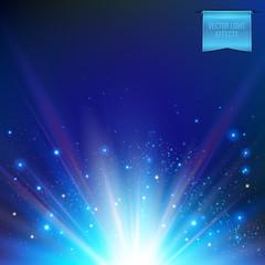 Foto op Plexiglas Licht, schaduw Vector illustration of abstract glowing white sun, star burst.