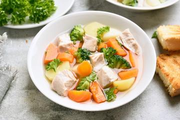 Diet vegetable chicken soup