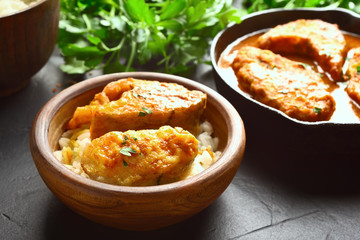 Fish curry with rice