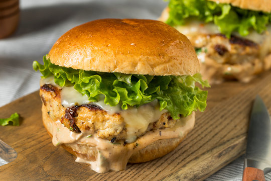 Spicy Homemade Chipotle Chicken Burger