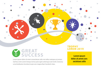 Success Concept Business Infographic Layout