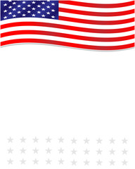 American flag frame with empty space for your text.