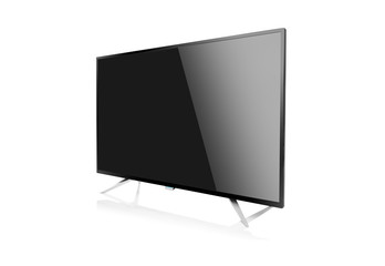 Computer monitor or tv set. Isolated on white background.