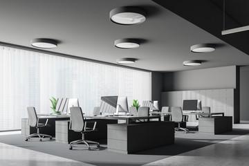 Loft gray office corner