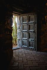 Aci Castello, Sicily, Italy: old castle door