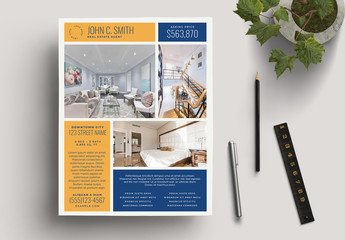 Gold Realtor For Sale Flyer Layout