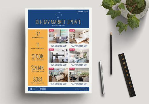Gold Real Estate Market Update Flyer Layout