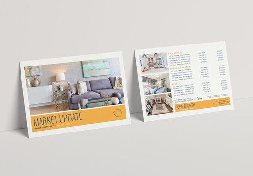 Gold Real Estate Market Update Postcard Layout