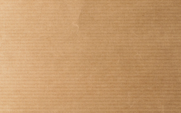 Striped Brown Craft Paper Top View with Copy Space