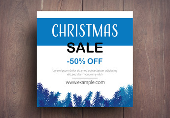 Christmas Sale Card Layout