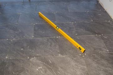 Balcony floor tiles installation