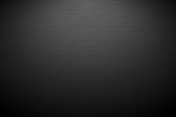 Dark horizontal background with brush texture. Vector background with lighting.