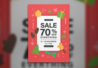 Holiday Sale Flyer Layout