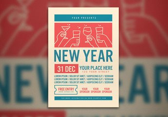 New Year's Party Flyer Layout
