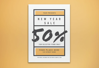 New Year's Sale Flyer Layout