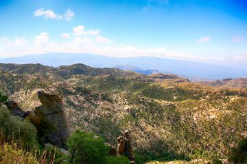 Hoodoo rock formations in the Mount Lemmon mountains of Arizona