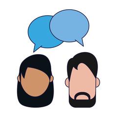 Couple talking avatar