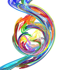Color Paint Flow Circle Abstract