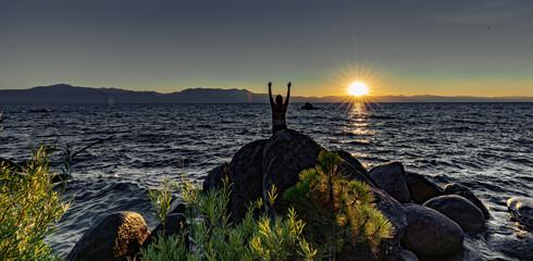 South lake Tahoe, Girl in sunset