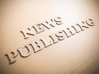 News Publishing Words Quotes Concept