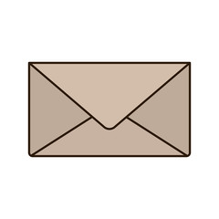 envelope closed isolated icon