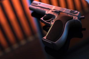 Pistol automatic handgun - fototapety na wymiar