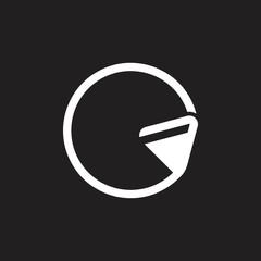 letter g geometric triangle arrow lines logo