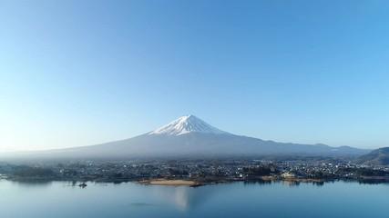 Wall Mural - 富士山 河口湖 ドローン撮影