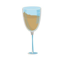 Champagne cup isolated