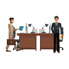 business coworkers executives cartoon