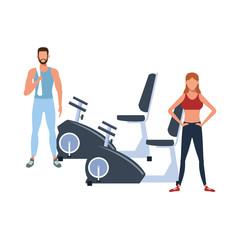 fitnesscouple training with
