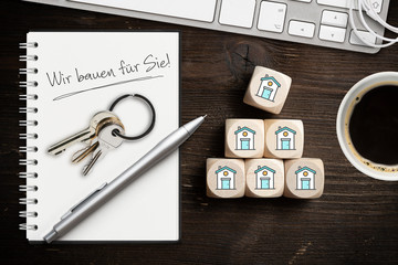 Wir bauen für Sie - Hausbau-Planungs Konzept
