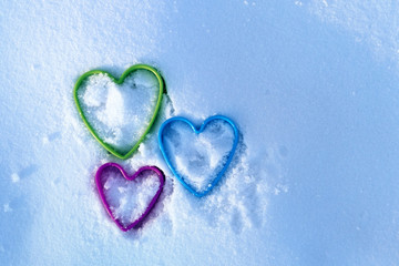 the image of the heart in the snow