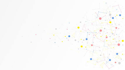 communication technology dot data network abstract