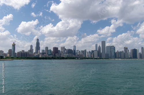 7fe915fb0c8 Chicago panorama skyline from across the lake