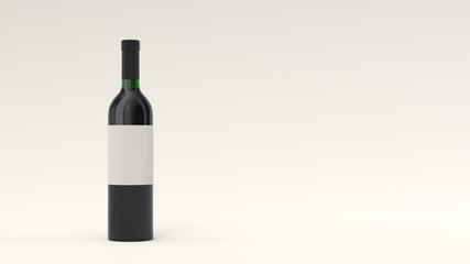 Mockup for bottle of red wine with blank label