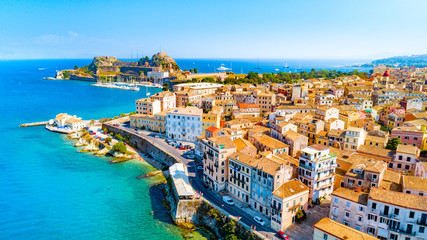 Panoramic view of Kerkyra, capital of Corfu island, Greece Fototapete