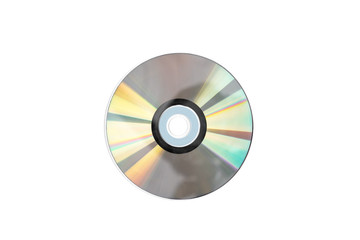 CD disc isolated on white background.