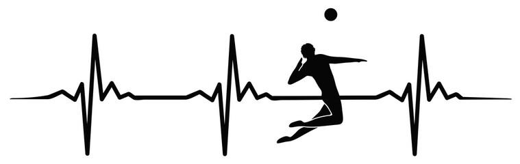 Volleyball heartbeat #isoliert #vektor - Herzschlag